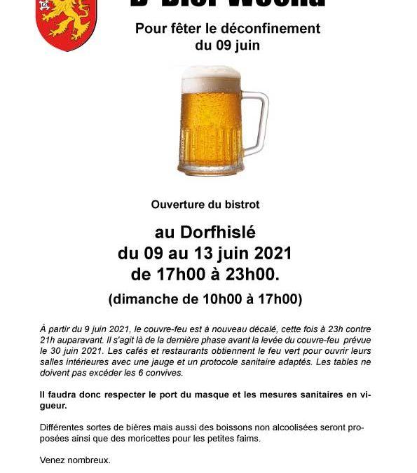 D' Bier Wocha du 09 au 13 juin 2021 au Dorfhislé